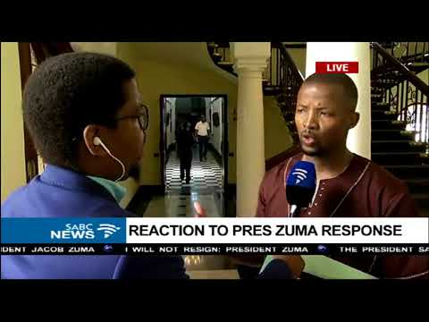 MPs react to President Zuma's response