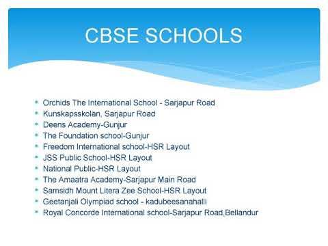 Schools In Marathahallisarjapur Roadhsr Layout Youtube