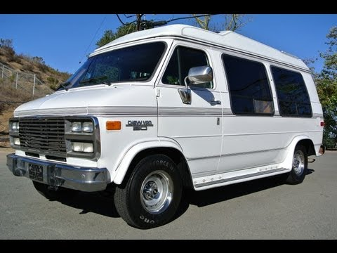 Chevrolet G20 Conversion van Solar mini RV 350 Explorer W/Bed SUV & High Top Camper