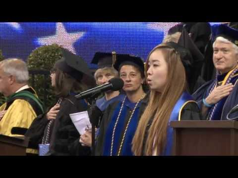 UCLA Commencement 2013 -- Ashley Yoon Sings the National Anthem