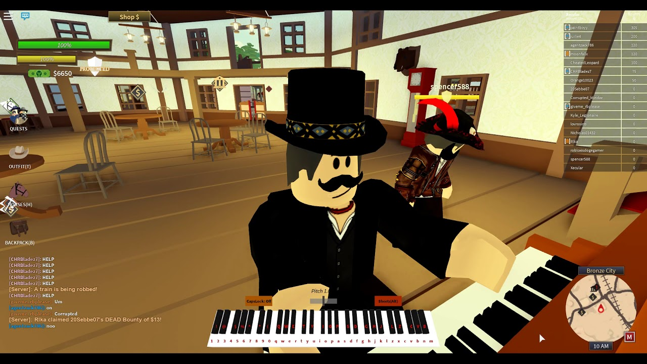 Old Town Road But Its On The Wild West Roblox By Xecular Piano