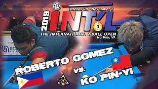 Philippines v Taiwan: Roberto GOMEZ vs KO Pin-Yi: 2019 INTERNATIONAL 9-BALL OPEN