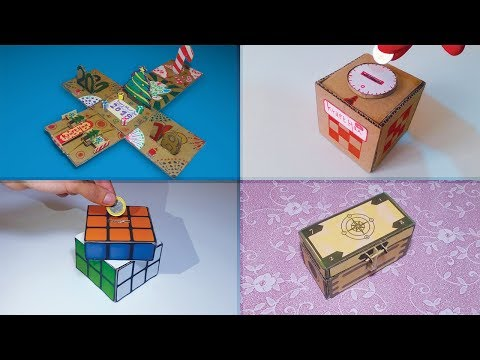 Top 4 Best Cardboard Creative Box Creations | Rubik's Cube, Secret Box, New Year Box, Password Box!