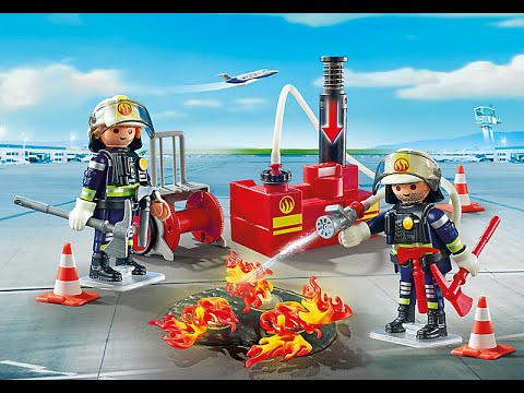 Playmobil 2017 pompier a roport youtube - Playmobil pompiers ...