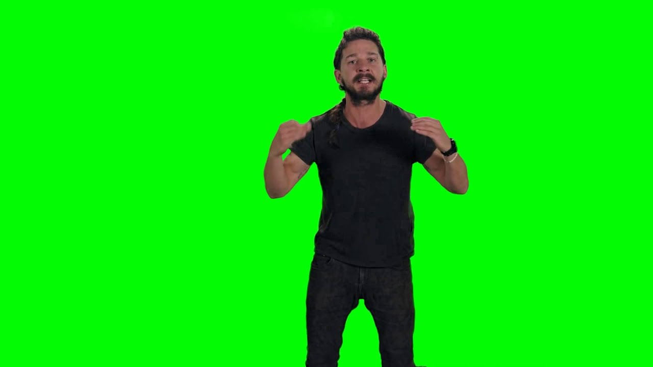video just do it shia labeouf green screen perfected youtube. Black Bedroom Furniture Sets. Home Design Ideas