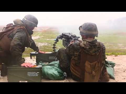 2nd Marine Division Band Fires Mk 19's