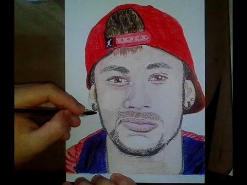 how to draw Neymar jr  como dibujar a Neymar jr  speed drawing