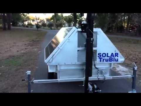 Solar Trublu Led Light Tower Demo Youtube