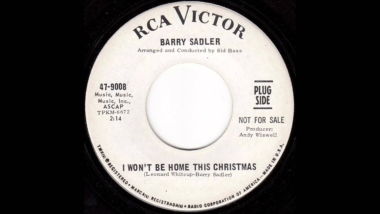 Barry Sadler - I Won\'t Be Home This Christmas - YouTube