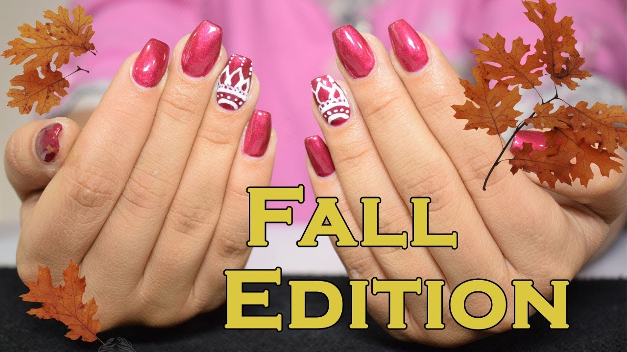 Gel Nails Tutorial - Fall Edition | Dyra Luxe - YouTube