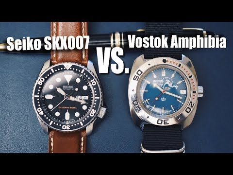 The Seiko SKX007 vs. The Vostok Amphibia!!