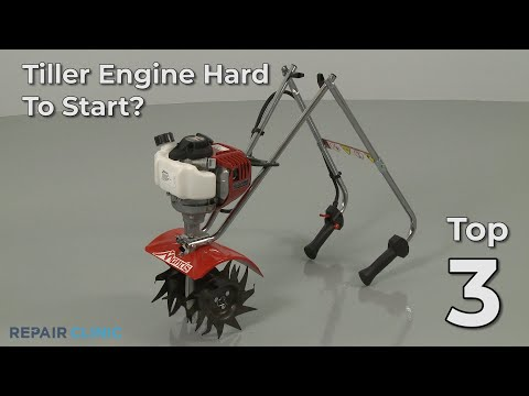 "Thumbnail for video ""Tiller Engine Hard To Start? Tiller Troubleshooting"""