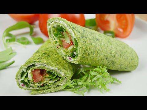 Spinat Wraps I Toller Snack für Schule, Arbeit & Uni