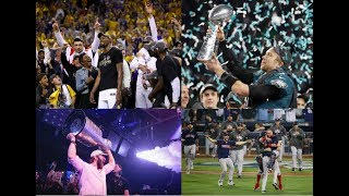 Comparing the Stanley Cup Celebrations vs the NBA, NFL and MLB