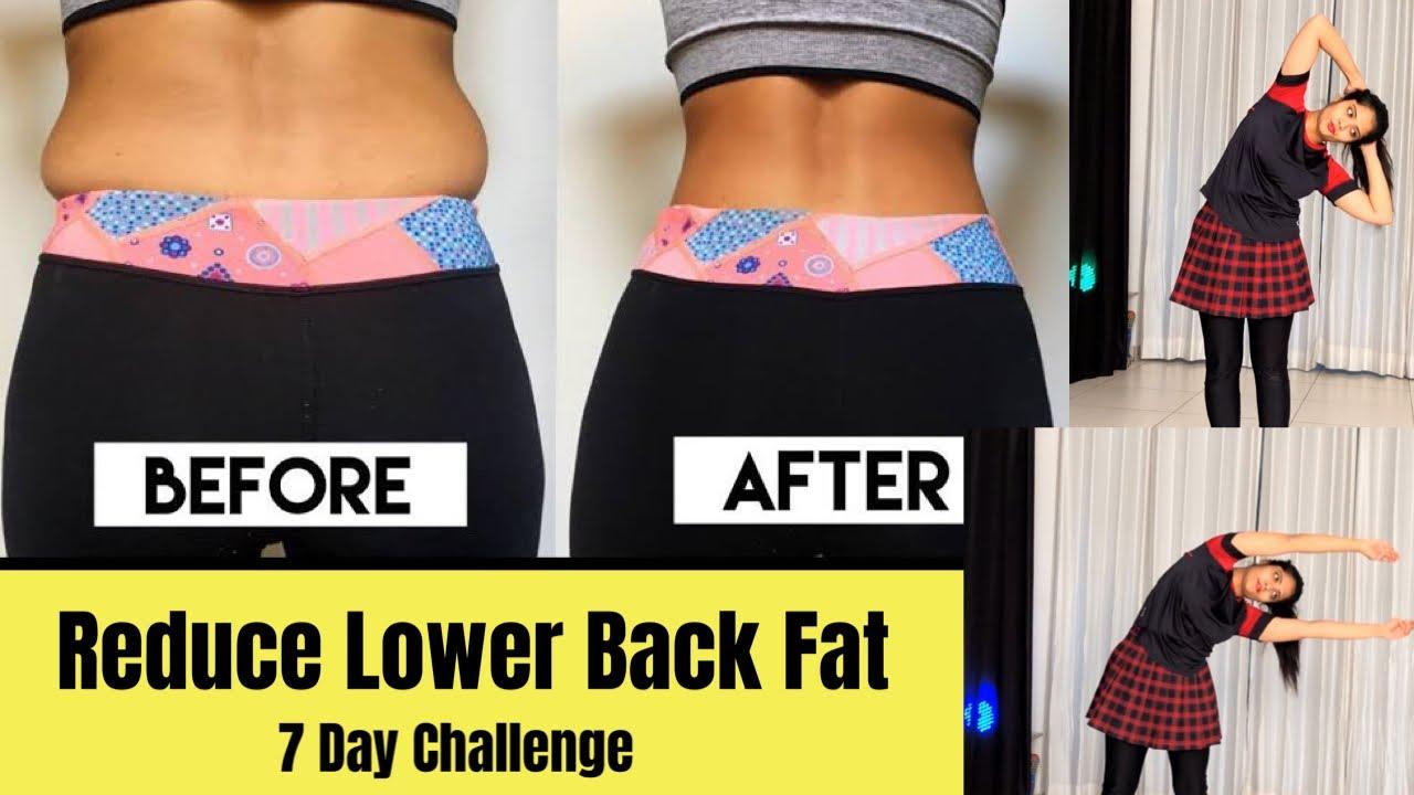 Reduce Lower Back Size  Back Fat  Love Handles 7 Day Challenge  Somya  Luhadia