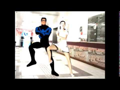 Gangnam Style dance 3D animation, 3ds max merge FBX files