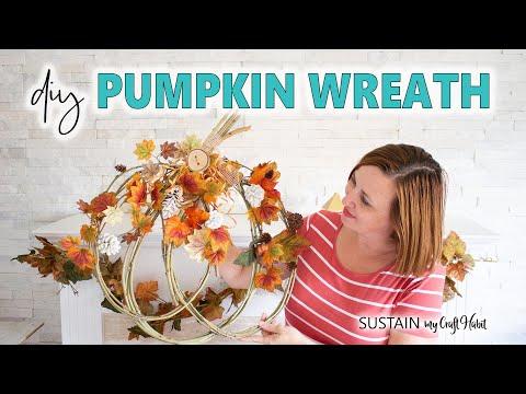 Pretty Fall Pumpkin Wreath // DIY Mommy's Fall DIY & Decor Challenge!!