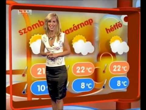 Weather Woman in Black Satin Skirt