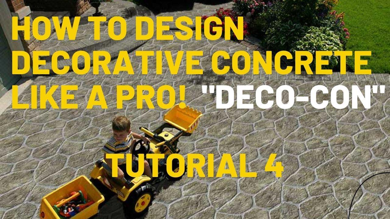 Decorative Concrete Training decorative concrete design training tutorial 4 adding soldier