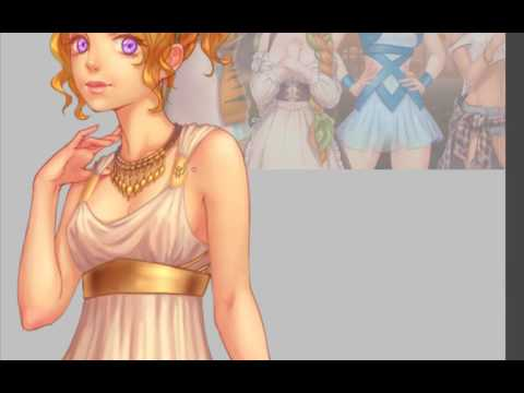 Visual Novel Sprite - Ancient Greek girl + expressions