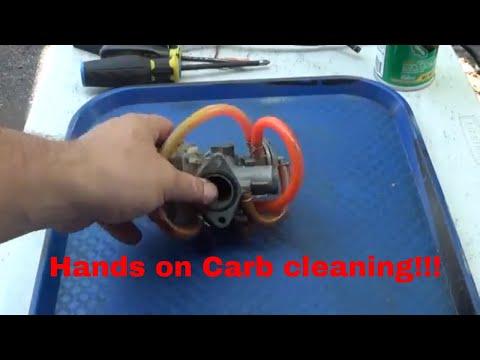 Detailed ATV carburetor cleaning, Honda Recon Carburetor clean, Keihin Carb,