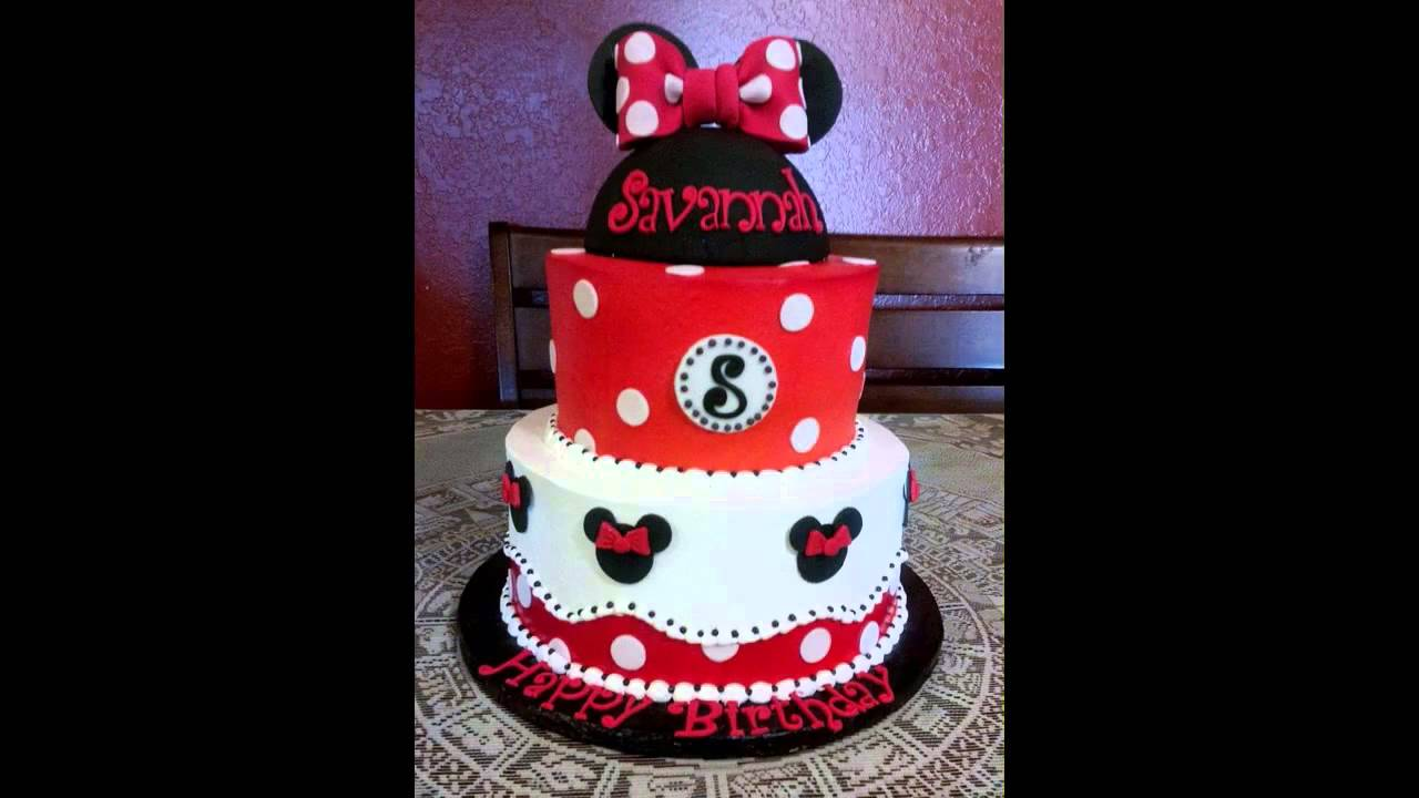 Cute Minnie Mouse Cake Decorations Youtube