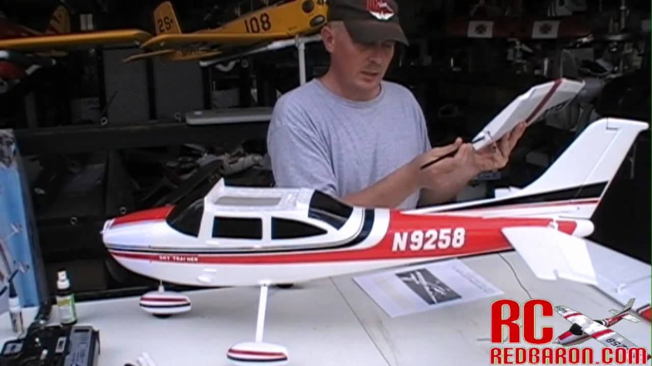 Build Video: Nitroplanes FMS Sky Trainer 182 EPO Super Extreme Detail RC  Airplane w/ Brushless RTF