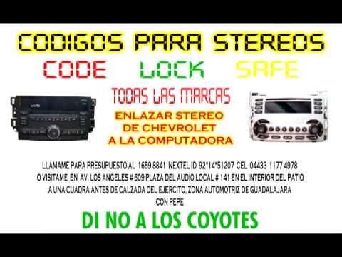 COMO DESBLOQUEAR EL ESTEREO CODIGOS www.codigosdeestereo.com - YouTube