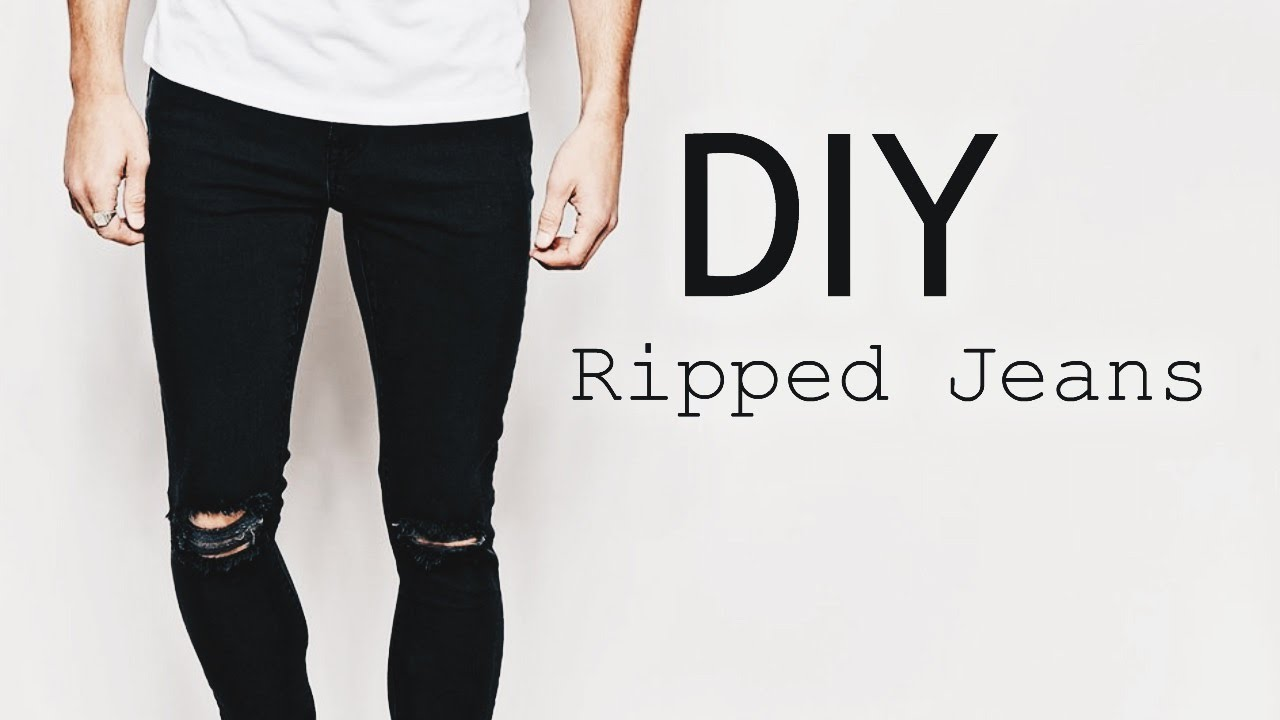 diy ripped jeans ootd mens fashion street style