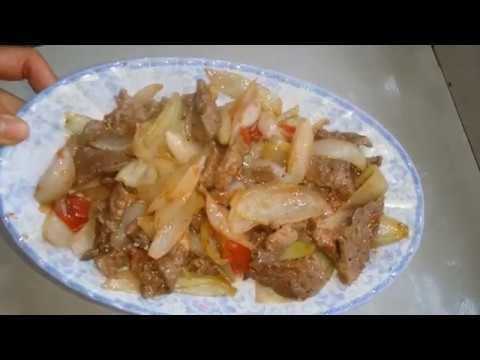 Cách làm món thịt bò xào hành tây ngon ngọt!
