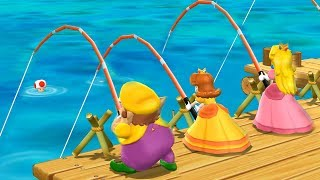 Mario Party 9 Garden Battle - Peach Vs Daisy Vs Wario Vs Toad| Cartoons Mee