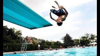 تعلم الشقلبة الأمامية  في المسبح   حركة تجعلك مختلف عن الأخرين  learn Front flip in the pool
