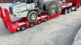 WOW - IT'S LEGO !!! LOADING MANEUVER OF 20 KG RC DUMP TRUCK