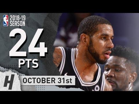 LaMarcus Aldridge Full Highlights Spurs vs Suns 2018.10.31 - 24 Pts, 3 Rebounds!