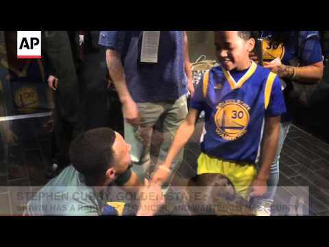 RAW VIDEO: NBA MVP Stephen Curry Gives His...