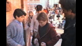 Sylvester Stallone directing Kevin Connolly in Rocky V