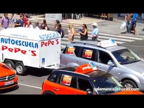 Manifestación de las autoescuelas en Salamanca