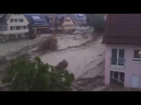 Braunsbach Unwetter Überschwemmung Katastrophe 29.05.2016