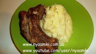 Вкусно и просто: Рецепт свиных ребрышек жаренных на сковороде. Пошаговый рецепт с видео.