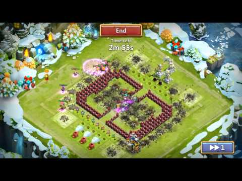 Castle Clash Super Quick Raid and no missing resources after that!