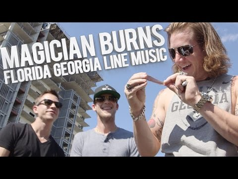 Magician burns FGL music in front of them!