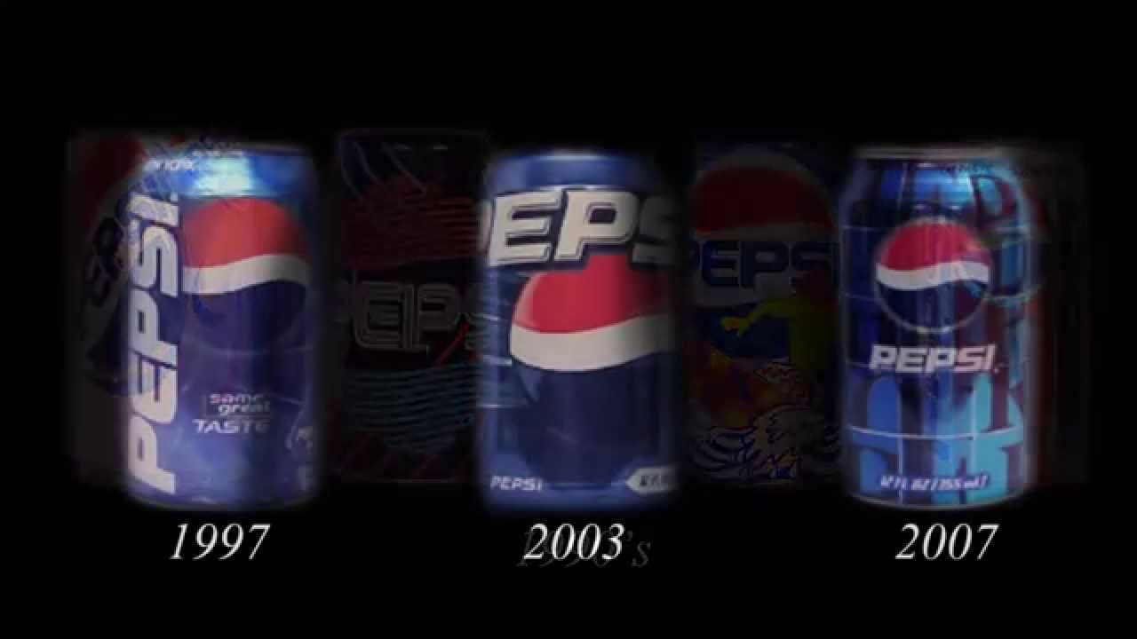 evolution pepsi cans youtube