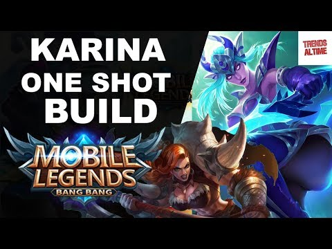 Mobile Legends Karina Gameplay|Why I LOVE Karina|KARINA ONE SHOT BUILD|Trends Altime|
