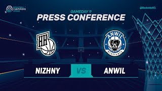 Nizhny Novgorod v Anwil - Press Conference - Basketball Champions League 2018-19