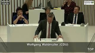 19.10.2017, Wolfgang Waldmüller, CDU-Fraktion, Landtag M-V, AfD Antrag Fördermittelvergabereform