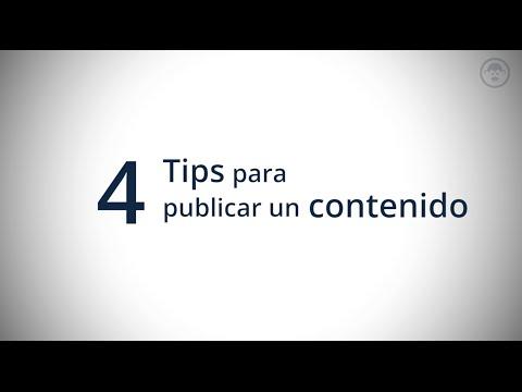 4 Tips para publicar un contenido en Facebook