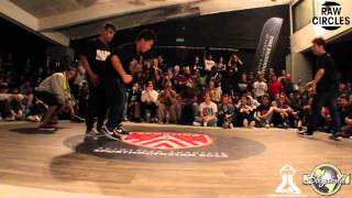 Lukas & Klesio vs Issei & Shuvan // .BBoy World // BREAKING 2on2 QUARTER-FINAL | RAW CIRCLES 2013