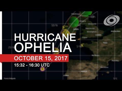 Force Thirteen Live - Hurricane Ophelia Coverage (15:32 - 16:30 UTC, Oct 15, 2017)