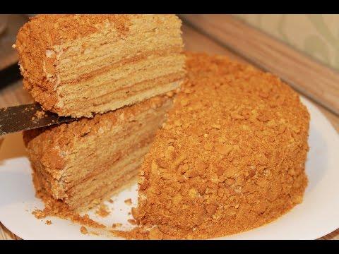 Торт РЫЖИК. Домашний медовый торт.