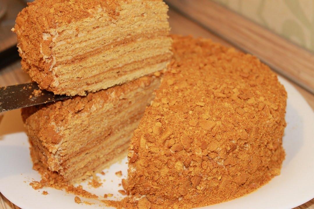 Торт рыжик пошаговый рецепт со сгущенкой